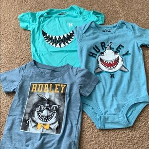 Lot of Hurley shark baby clothes